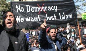SignNoDemocracyJustIslam